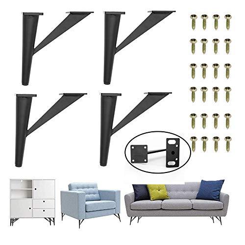 Patas y Patas de Repuesto de Muebles de Madera Maciza 4 UNIDS 8-15cm gabinete sof/á Mesa de caf/é Patas de la Cama Cuadrado Oblicuo