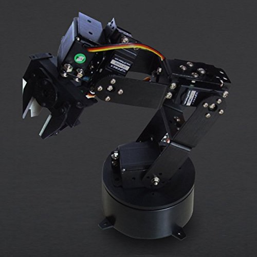 Angelelec DIY Open Source Robot Manipulators,6 Dof Robotic Arm,Delivers Fast, Accurate, and Repeatable Movement,Base Rotation, Single Plane Shoulder, Elbow, Wrist Motion, a Functional Gripper