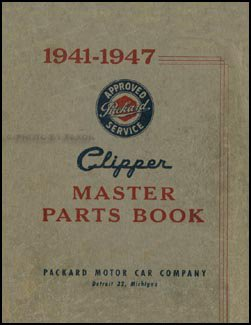 Used, 1941-1947 Packard Clipper Parts Book Original for sale  Delivered anywhere in USA