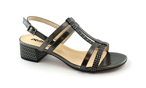 K35098 Grigio Zapatos Hebilla Sandalias Antracita Melluso de Gris Mujer Z8BqdnxPw