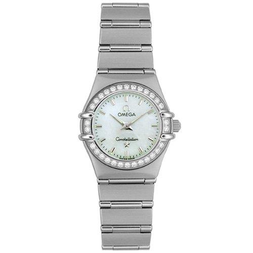 Omega Women's 1466.71.00 Constellation Quartz Mini Diamond Bezel Watch