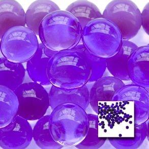 FuzzyGreen Best Vase Fillers, Water Pearls Centerpiece Wedding Tower Vase Filler Purple Gel