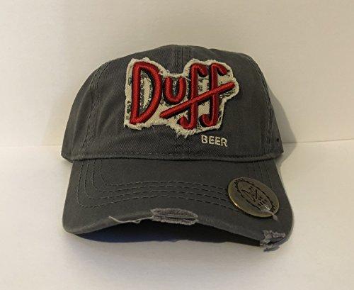 Universal Studios Exclusive The Simpsons Duff Beer Adult Baseball Cap Hat