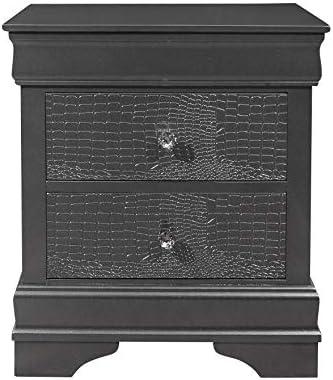 Global Furniture USA Pompei Nightstand Gray Finish Nighstand