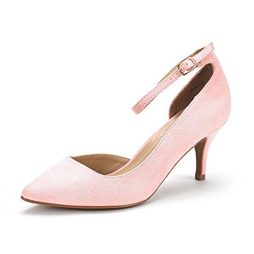 DREAM PAIRS Women's Ideal Light Pink Low Heel Dress Pump Shoes - 10 M US