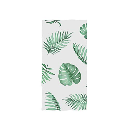 (SUABO Palm Leaves Hand Towel Dish Towels Cotton Face Towel 30x15 inch Gym Yoga Towels for Bath Decor)