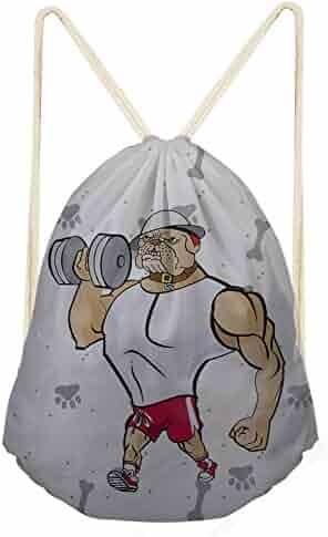 3pcs Animal Cartoon Print Drawstring Bag Eva Pouch Clothes Storage Sport Travel Cinch Tote Set For Sale Clothing & Wardrobe Storage