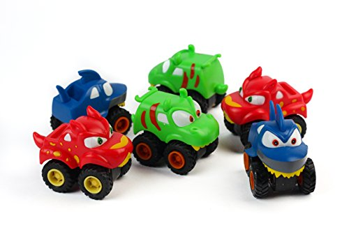 Tow Master Special Trailer (BOLEY (12-Piece) Friction Powered Pull Back Racing Monster Jam Trucks and Cars - Great Stocking Stuffers and Party Favors)