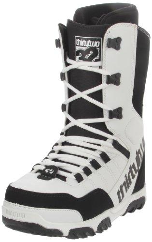 Snowboard Boots 32Prion 11/12, color blanco, talla 8,5 blanco - blanco y gris