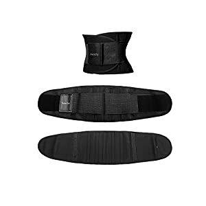 Jueachy Waist Trainer Belt for Women, Breathable Waist Cincher Trimmer Body Shaper Sweat Belt Girdle Fat Burn Belly Slimming Band for Weight Loss Fitness Workout (L)