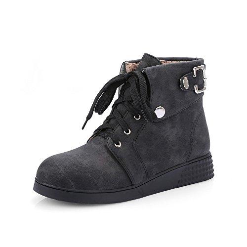 BalaMasa Girls Bandage Metal Ornament Imitated Leather Boots Black twfSW