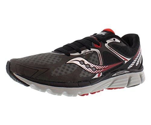 Saucony Men's Kinvara 6 Running Shoe, Black/Grey/Red,12 M US