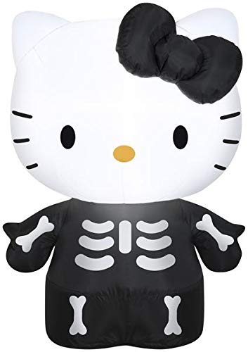 Gemmy 3' Airblown Hello Kitty as Skeleton Halloween Inflatable]()
