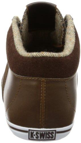 K-Swiss Hof IV MID VNZ - Zapatilla alta de cuero hombre marrón - Braun (Cowboy/Espresso/White)