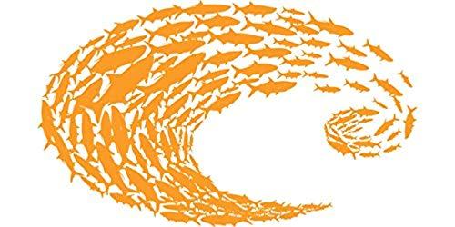 Costa Del Mar Logo Schoolin Orange Decal-Small