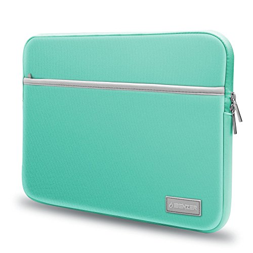 IBENZER Basic 13.3 Neoprene Protective Laptop Case Sleeve Bag with Accessory Pocket for 13-13.3 Inch Laptop, MacBook Pro 13, MacBook Air 13, Turquoise, BG13TBL