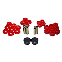 Energy Suspension 8.3133R Control Arm Bushing Set Red Rear Performance Polyurethane Control Arm Bushing Set