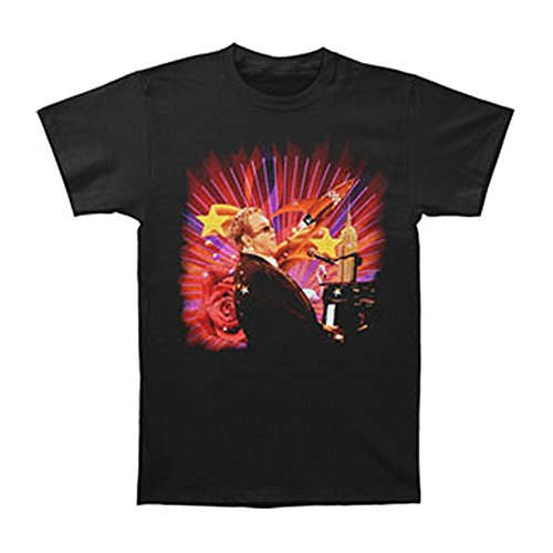 08 Apparel Tee - Elton John Men's Rocket Stars 08 Tour T-shirt X-Large Black