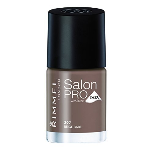 Rimmel Salon Pro with Lycra Nail Polish, Beige Babe, 0.4 Fluid Ounce by Rimmel