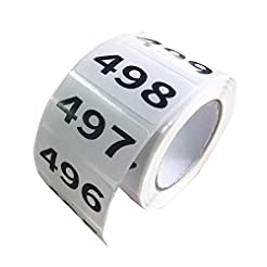 FORNY Inventory Labels 001-500 Consecuti...