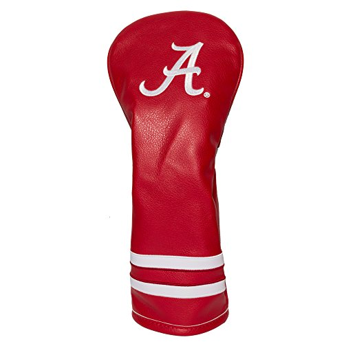 Team Golf NCAA Alabama Crimson Tide Vintage Fairway Golf Club Headcover, Form Fitting Design, Retro Design & Superb -
