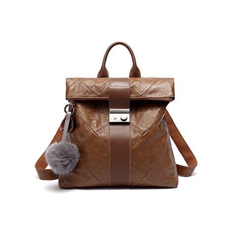 JeHouze Fashion Women Handbag Genuine Leather Backpack Casual Shoulder Bag Anti-theft purse ()