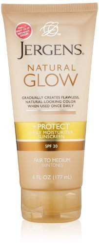 Jergens SPF Glow and Protect Body Lotion, Fair to Med, 6 Oun