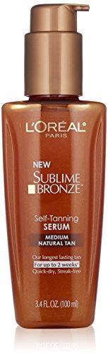 [L'Oreal Paris Skin Care Sublime Bronze Self-Tanning Serum, Medium Natural Tan, 3.4 Fluid Ounce] (Loreal Sublime Bronze Self Tanner)