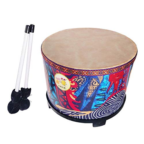 - Flameer Wooden 10inch Hand Drum with 1 Pair Sticks Beaters Kids Baby Musical Toy Birthday Christmas Gift