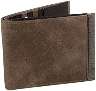 Wallet man RONCATO brown in leather portacredit cards with flap A5669