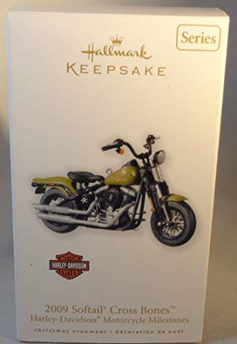 2010 Hallmark Ornament - 2009 Softail Cross Bones Harley Davidson #12 In Series 2010 Hallmark Ornament