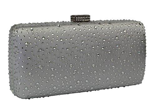 Rhinestones Crystal Silver Yilongsheng L For Bags Full Women Wedding 4431 Prom Clutch wOq46