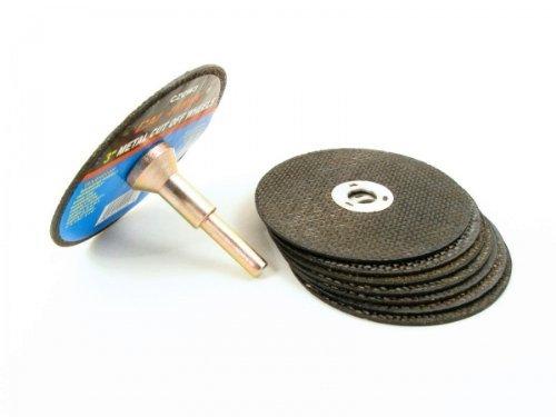 1/4 Die Grinder Mandrel & 3 Metal Cutting Wheels Kit Grind Welds, Model: CZCW3