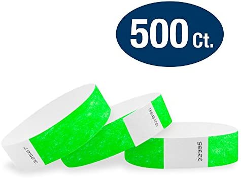 graphic regarding Printable Wristbands for Events known as WristCo Neon Environmentally friendly 3/4\