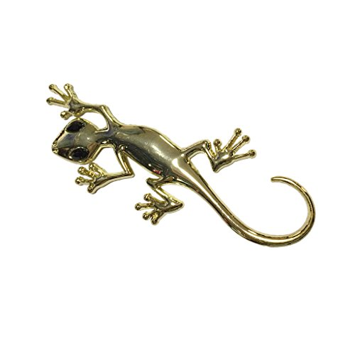 3D Metal Plating Lizard Emblem Car Truck Motor Auto Decal Badge Sticker-Silver