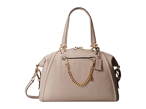 Coach Prairie Satchel with Chain Light Gold Grey Birch Le...