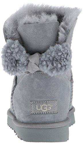 1019625 Arielle Geyser Stiefelette Strickschleife Stiefel Womenïs UGG© mit Lammfell Damen Grau BTR8qfx4w