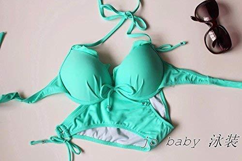Costume Medium Lake Blue In Color Puro Acciaio Bagno Qiusa Nero Bikini Da Dimensione colore 7qRSzwd