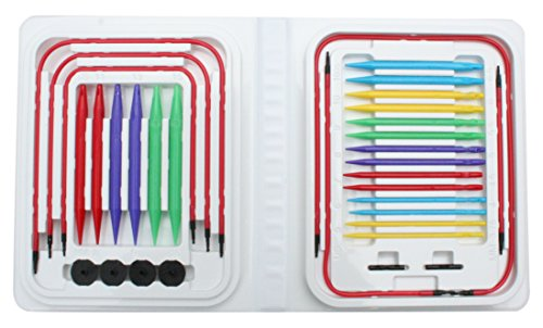 Price comparison product image Denise Needles Denise Interchangeable Knitting Needles Kit,  Blue Brights