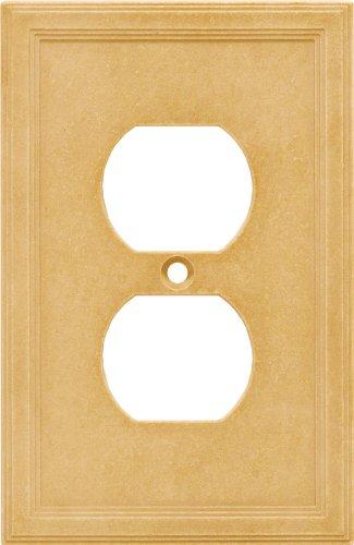 Single Duplex Cast Stone Wall Plate - Sahara