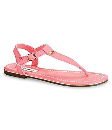 Aeropostale Womens Neon Studded Sandals, Pink, 10 B(M) US