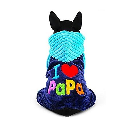 Manteau Vêtement Hoodie avec écriture mignon drôle «I Love Mama» / «I Love Papa» Automne Hiver Pour Chien Chiot BulzEU
