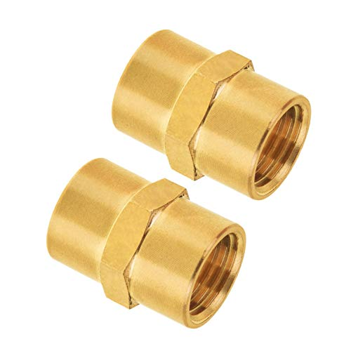 Pipe Fitting, SUNGATOR Brass Air Fitting, Coupling, 1/4