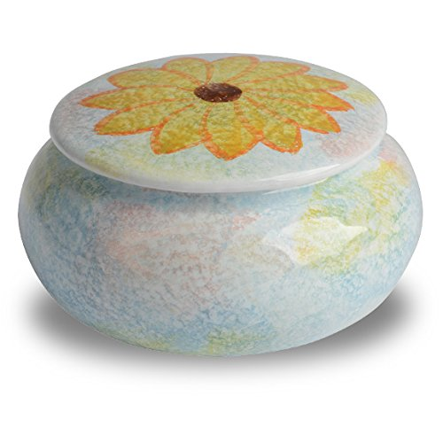 Sunflower Jewelry Box Italian Dinnerware- Handmade in Italy from our Primavera Collection