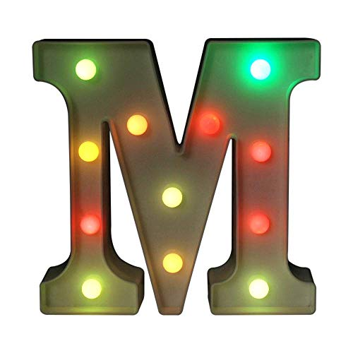 Light up Letters LED Sign Marquee Letters with Lights Alphabet Number Lamp Lighting up Words Standing Hanging A - Z Wedding Birthday Party Bar Wall Decoration -