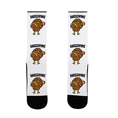 LookHUMAN Dabsgiving US Size 7-13 Socks for $<!--$12.99-->