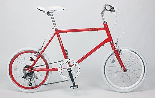 21Technology(CL20)ミニベロ 20インチシマノ製6段変速ギヤ付きクロスバイク B00HQ73SOK レッド レッド