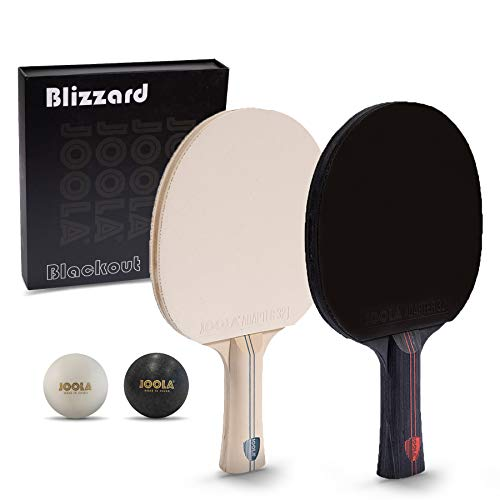 JOOLA Blizzard & Blackout - Competition Ping Pong Paddle Set - Includes 2 Table Tennis Rackets