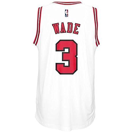3cbdd250f Amazon.com   Chicago Bulls Dwyane Wade adidas White Swingman Jersey ...