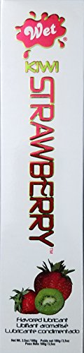 Wet flavored lubricant gel by Trigg, kiwi strawberry - 3.5 oz (Kiwi Strawberry 2)